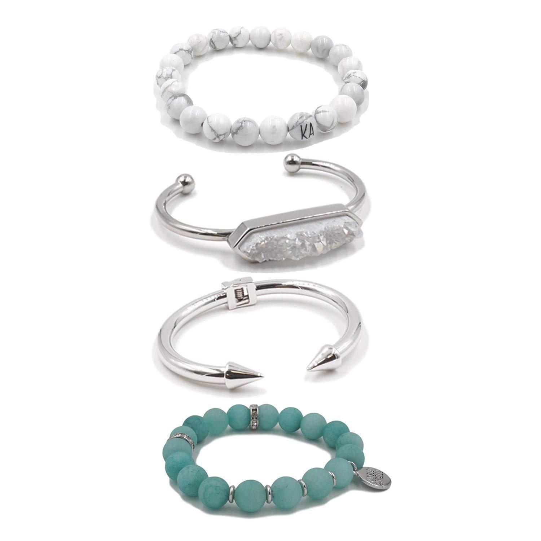 Kinsley Armelle Silver Fox Bracelet Stack