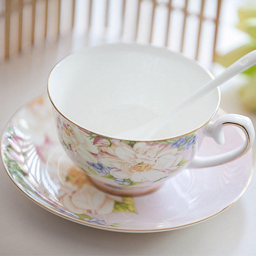 DHG English Bone China Coffee Cup Set European Afternoon Tea Tea Creative Ceramic Simple Home Red Tea Cup,C