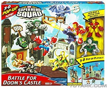Marvel Super Hero Squad Mini Playset - Doom Castle with Dr. Doom and Iron Man by Hasbro: Amazon.es: Juguetes y juegos