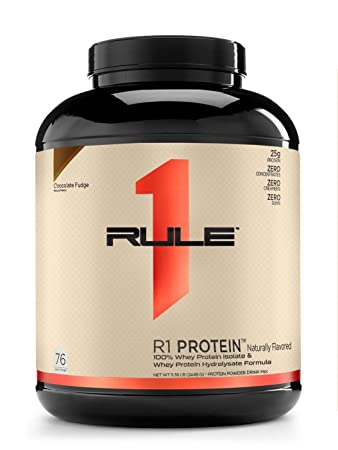 R1 Protein 76 Serv Chocolate Fudge Naturally Flavored, 5.38 Pound