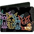 Pokemon Eevee Evolution Outlines Bi-fold Wallet