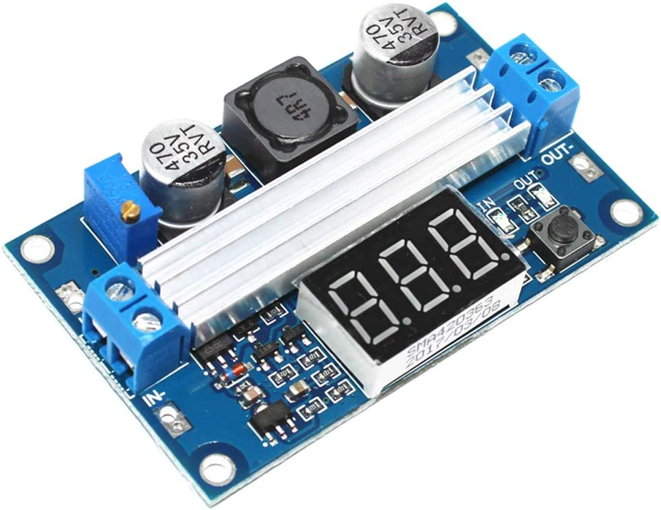 LTC1871 Boost Power Module High Power DC-DC 100W Adjustable Output 3.5-35v Step up Power Supply Converter Module Board with LED Digital Display Voltmeter