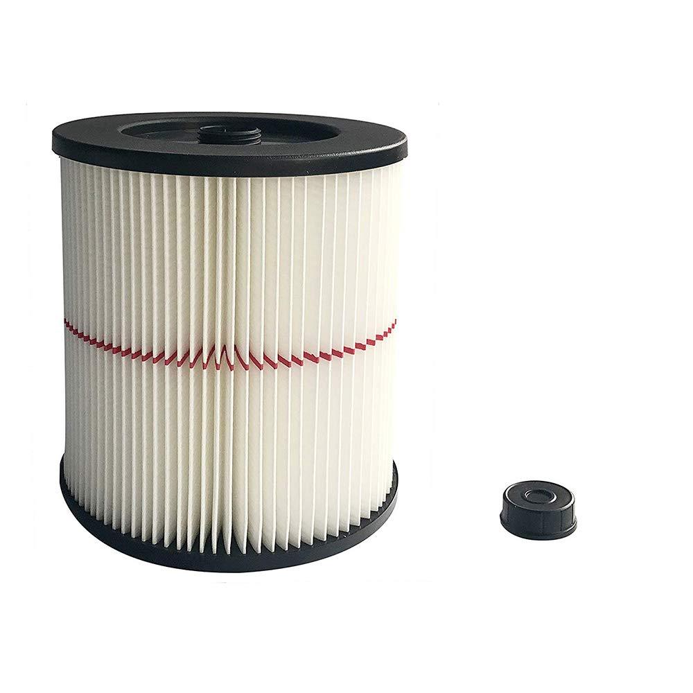 Zerich Craftsman 9-17816 掃除機カートリッジフィルター 8.5インチ ホワイト/レッド #7859   B07M76WTGL