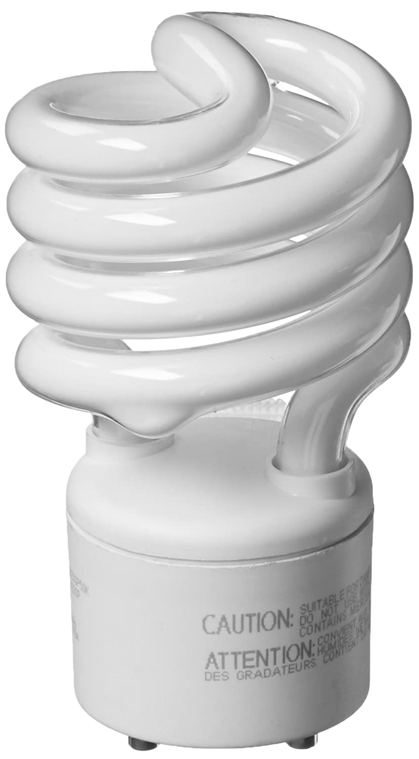 TCP 33123SP50K CFL Spring Lamp - 100 Watt Equivalent (Only 23w used!) Daylight White (5000K) General Purpose Spiral Light Bulb - GU24 Base