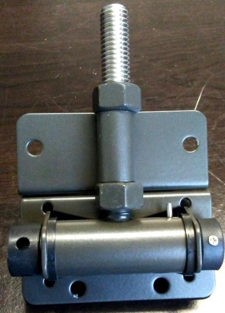 Pair of Horizontal Adjustable Self-Closing Stainless Steel Hinges (Painted) (Bronze) by Fittings Plus Inc