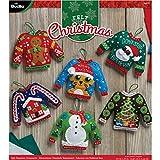 Bucilla 86674 BUC86674 Felt Kits 6 Orns Ugly Sweaters
