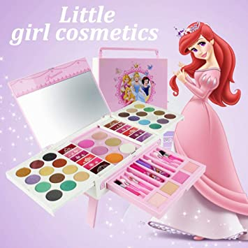Kids Beauty Fashion Pretend Play Toy Non-toxic 3 Color Disney Make Up Box 2019 Princess Makeup Kit Safety Girls Cosmetics Set 5 Beauty & Fashion Toys Toys & Hobbies