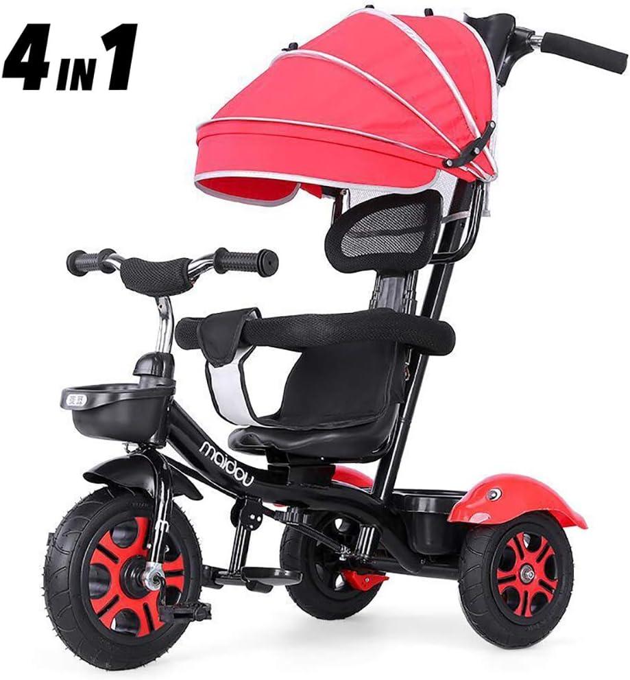 Aocean Triciclos Bebes 1 Año Niños Triciclo De Rueda Bicicleta Capota extraíble y Plegable Incluye Barra telescópica para los Padres Certificado Capacidad de Carga 30KG, Orange: Amazon.es: Deportes y aire libre