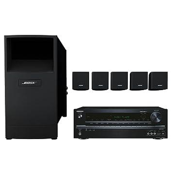 Bose Acoustimass 6 - Equipo de altavoces con amplificador Onkyo TX-NR535, negro: Amazon.es: Electrónica
