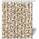 Happy More Custom Beach Pebbles Abstract Pattern Bathroom Waterproof Fabric  60x72 Inch Shower Curtain