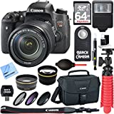 Canon EOS Rebel T6s Digital SLR Camera Body EF-S 18-135mm IS STM Lens Kit + Accessory Bundle w/ 64GB SDXC Memory + Flash + Pro Wide Angle Lens w/ Macro + 2x Telephoto Lens Converter +DSLR Bag
