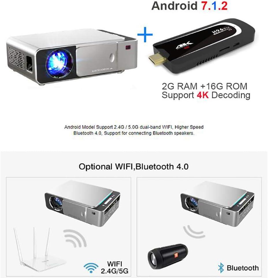 SMEI Proyector Portátil HD 1280x720p Opción Android 7,0 Hdmi USB ...