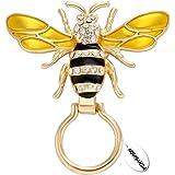 NOUMANDA Crystals Charm Honeybee Eyeglasses Holder &Brooch Pin