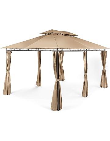 Blumfeldt Grandezza carpa de jardín pabellón 3x4m (Gazebo exterior, cenador impermeable, construcción tubos