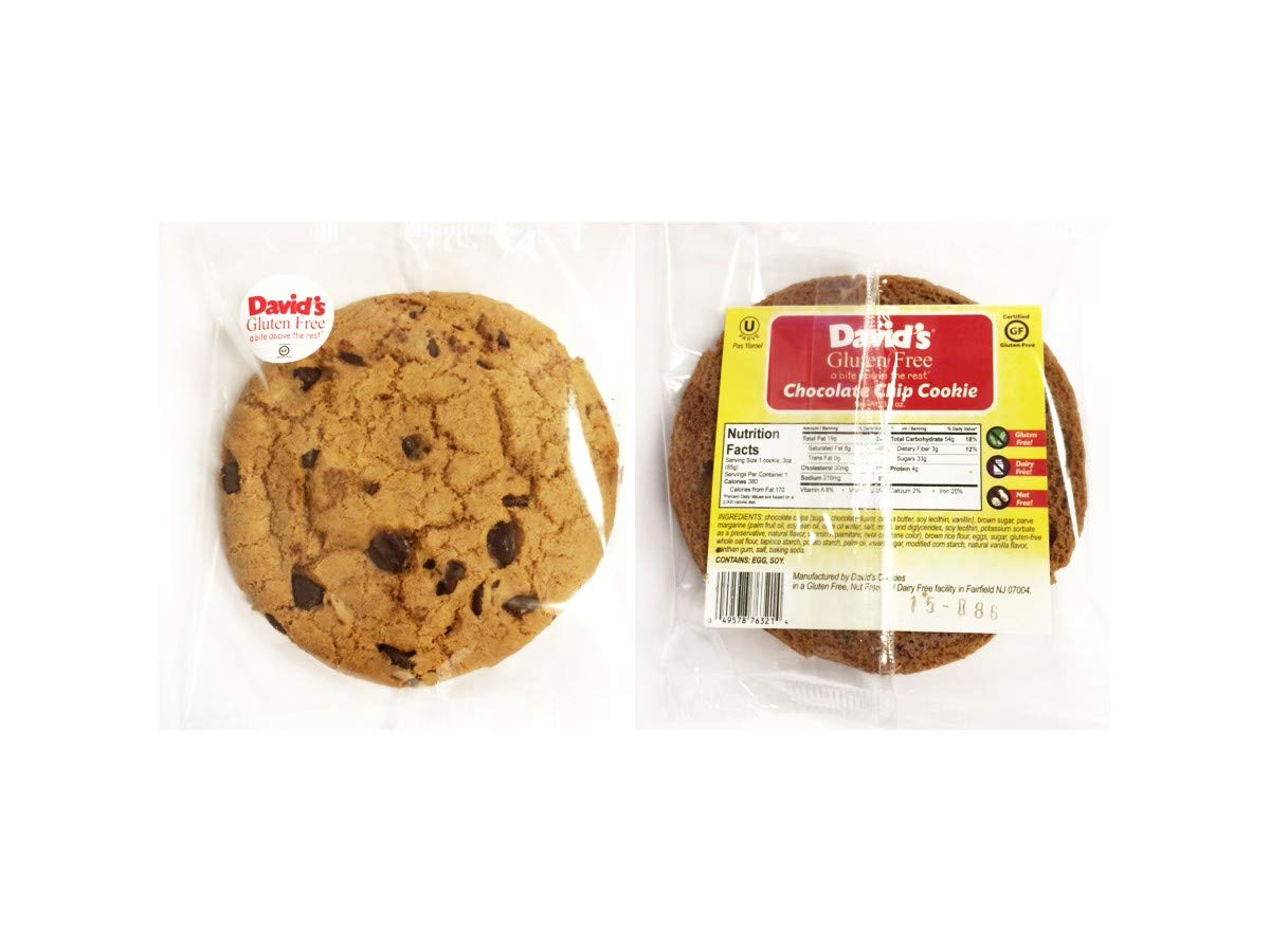 Davids Gluten Free Thaw N Sell Oatmeal Raisin Cookie Individually Wrapped, 3 Ounce -- 24 per case. by Davids