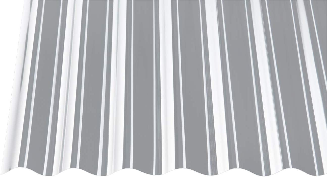 Polycarbonat Wellplatten Profilplatten Trapez 76//18 klar ohne Struktur 3500 x 1040 mm