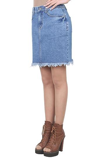9cdb04e8c9da ililily Vintage Distressed Washed Cotton Denim Slim Fit Pencil Mini Skirt:  Amazon.co.uk: Clothing