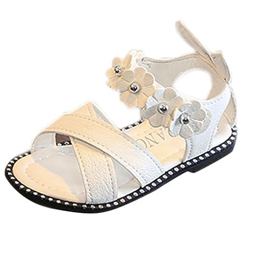 e4d9f962b9 PAOLIAN Zapatos para Niñas Verano Playa Sandalias de Vestir Antideslizante  Suela Blanda Zapatos de Boca de
