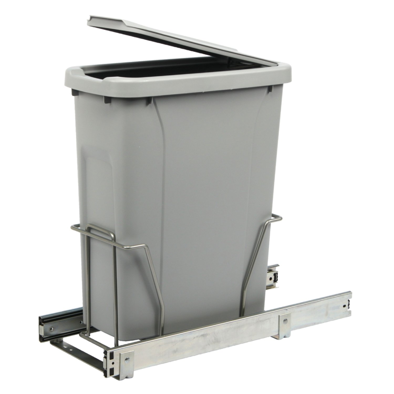 Knape & Vogt PLSW9-1-20-R-P In-Cabinet Pull Out Trash Can, 16.625 by 9.75 by 20.38-Inch