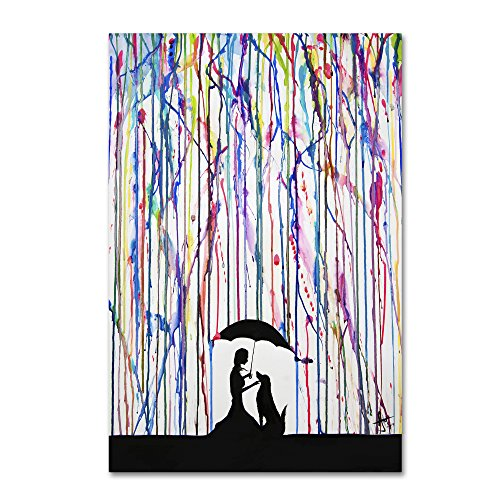 Trademark Fine Art Sempre by Marc Allante, 16x24-Inch Canvas Wall (Dog Watercolor Painting)
