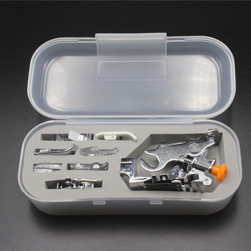 Webla - Máquina de Coser Eléctrica Multifuncional de 8 Piezas Con Pie Prensado, Acero inoxidable (17x8x5cm) (Multicolor)