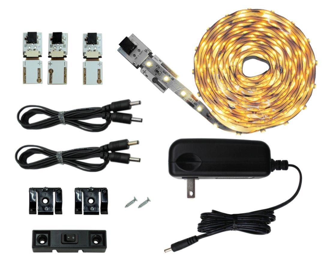 Inspired LED | Cut and Connect LED light strips| Super Bright - 18 leds per foot | Pure White 4200 K | 9.5ft/ 3M | Flexible LED DIY Kit