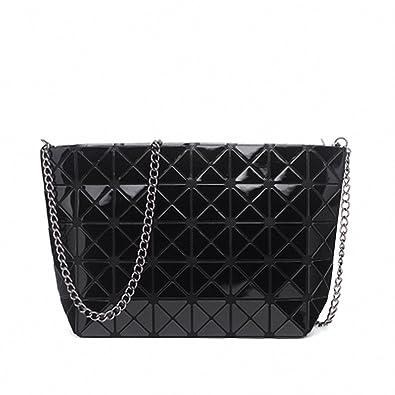 Amazon.com: Mujeres Cadena handbagd holográfica geométrica ...