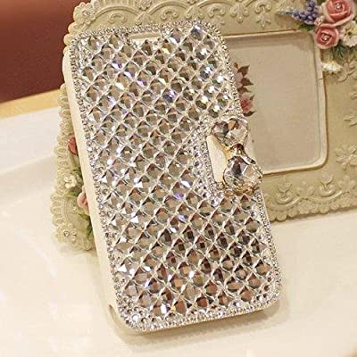 For Galaxy S6 edge Plus case,JANDM 3D Bling Crystal Rhinestone Leather Diamond Rhinestone Luxury Flip Wallet Card Skin Case Cover For SAMSUNG Galaxy S6 edge+ Plus from JANDM