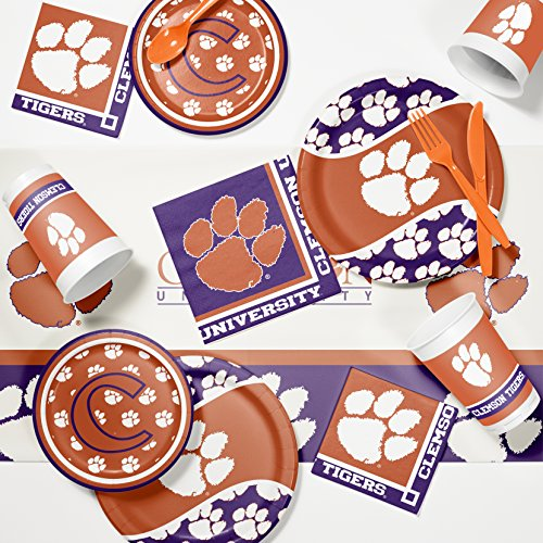 Clemson University Game Day Party Supplies Kit