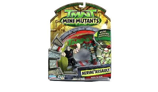 TMNT MINI MUTANTS 2008 AERIAL ASSAULT RAPH /& HUN SET