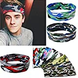 Headband, Iusun Women Men Yoga Sport Gym Sweatband Headband Stretch Head Band Hairband