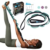 A AZURELIFE Stretch Strap with 11 Loops, Elastic Stretching Strap Band - Stretch Tool for Yoga Physical Therapy, Dance and Pi