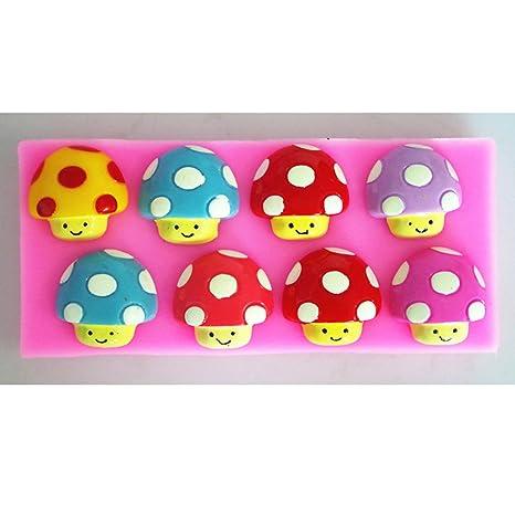 Suzhou LOFTER info Cute setas vela de jabón Moldes de repostería de silicona Fondant molde de