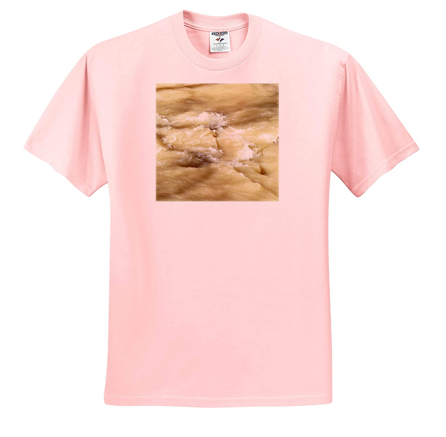 The Rushing Water in The Creek in a Muddy Color Adult T-Shirt XL 3dRose Jos Fauxtographee- Stream ts/_318883