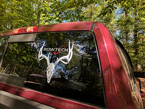 Bowtech 3 layer color viny decal for truck windows, bow and gun cases, ammo safes, gun cabinets, and more (5 x 5 (Bow Decal)