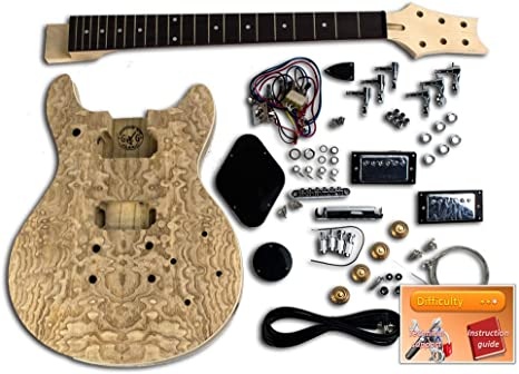 Kit de guitarra DiY – LP doble corte, Pawlonia: Amazon.es ...