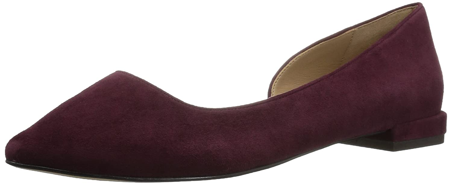 The Fix Women's Emma Pointed-Toe D'Orsay Ballet Flat B072V7HFWR 8.5 B(M) US|Wine Suede