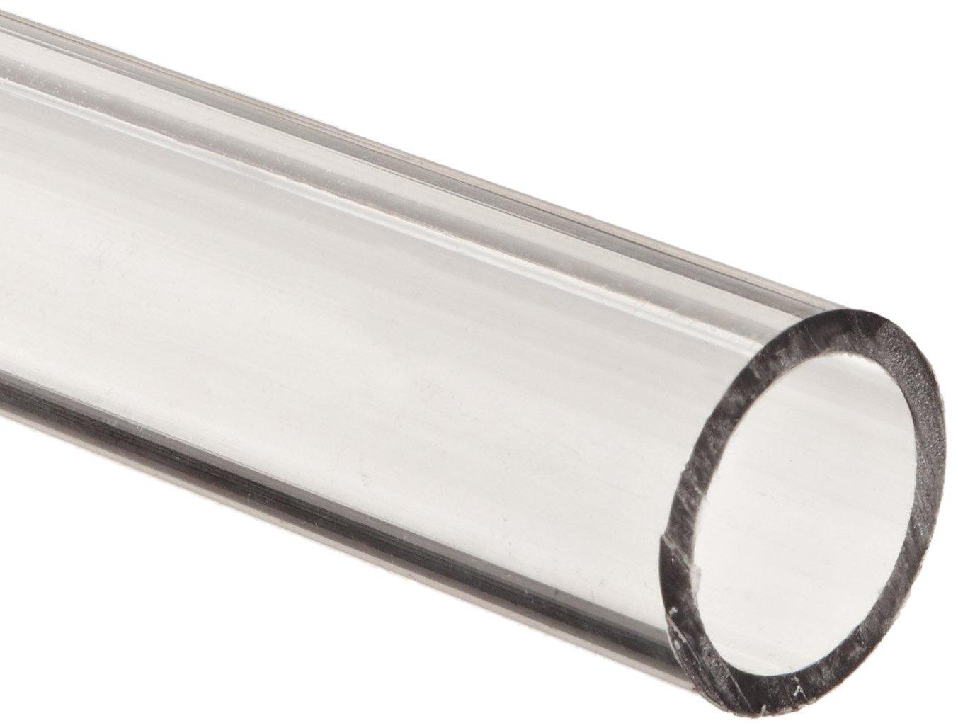 Polycarbonate Tubing, 1' ID x 1 1/4' OD x 1/8' Wall, Clear Color 24' L 1 ID x 1 1/4 OD x 1/8 Wall Clear Color 24 L Small Parts