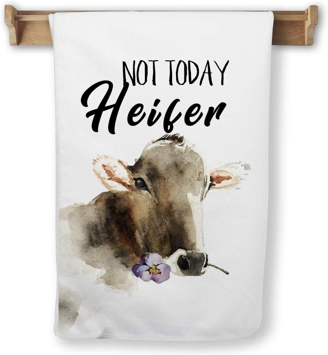 yuzi-n Farmhouse Kitchen Decor - Farm Animal Kitchen Towels (Heifer)