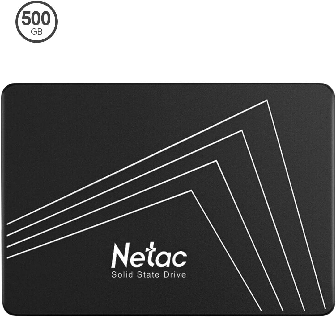 Netac 500GB SSD - Internal SSD 2.5Inch SATAIII 6Gb/s, 3D NAND Flash, Read Speeds up to 530MB/s, SLC Cache Performance Boost Digital Memory Internal Solid State Drive for PC/Laptop/Computer - N530s
