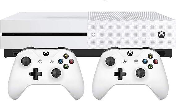 Microsoft Bundle Xbox One S (1TB) + 2 Controller Blanco 1000 GB Wifi - Videoconsolas (Xbox One S, Blanco, 8192 MB, DDR3, AMD Jaguar, AMD Radeon): Amazon.es: Videojuegos