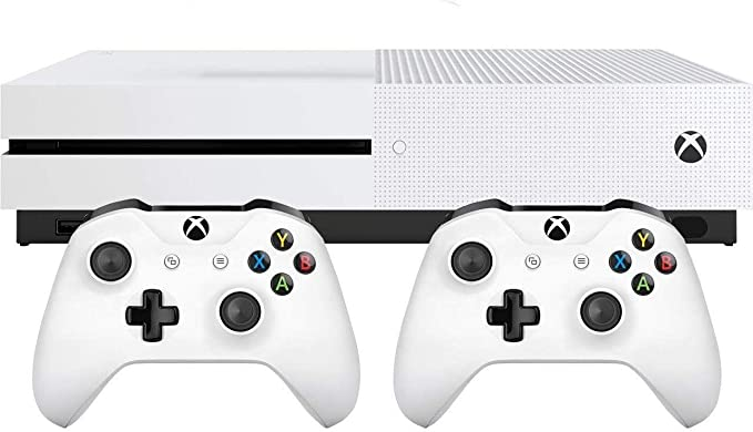 Microsoft Bundle Xbox One S (1TB) + 2 Controller Blanco 1000 GB Wifi - Videoconsolas (Xbox One S, Blanco, 8192 MB, DDR3, AMD Jaguar, AMD Radeon): Amazon.es: Videojuegos