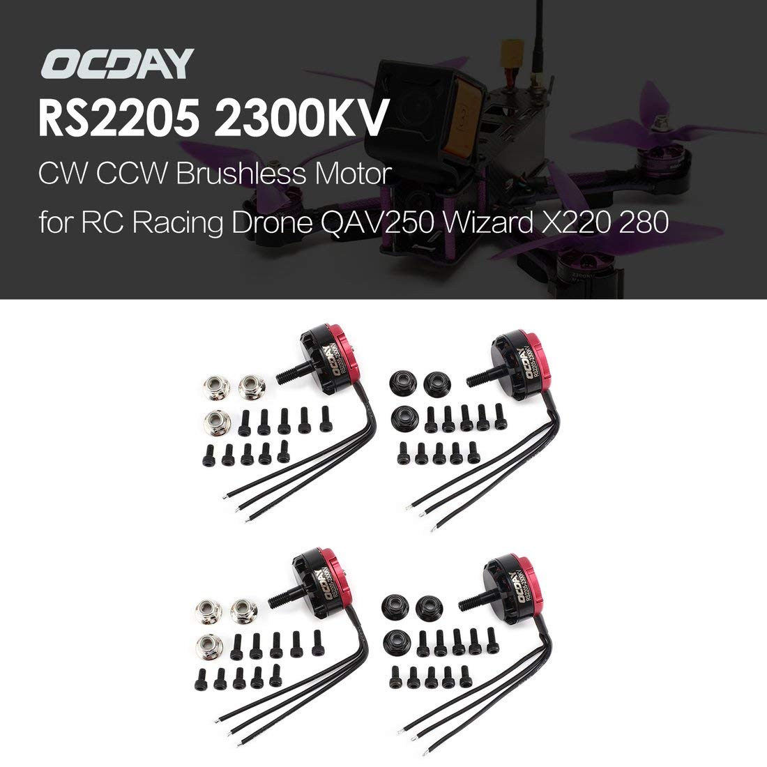 Formulaone OCDAY RS2205 2205 2300KV 3-4S CW CCW Motor sin ...