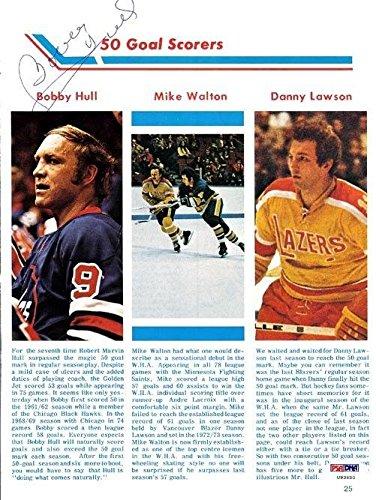 Bobby Hull Autographed Signed Magazine Page Photo Winnipeg Jets #U93680 PSA/DNA Certified Autographed NHL Magazines