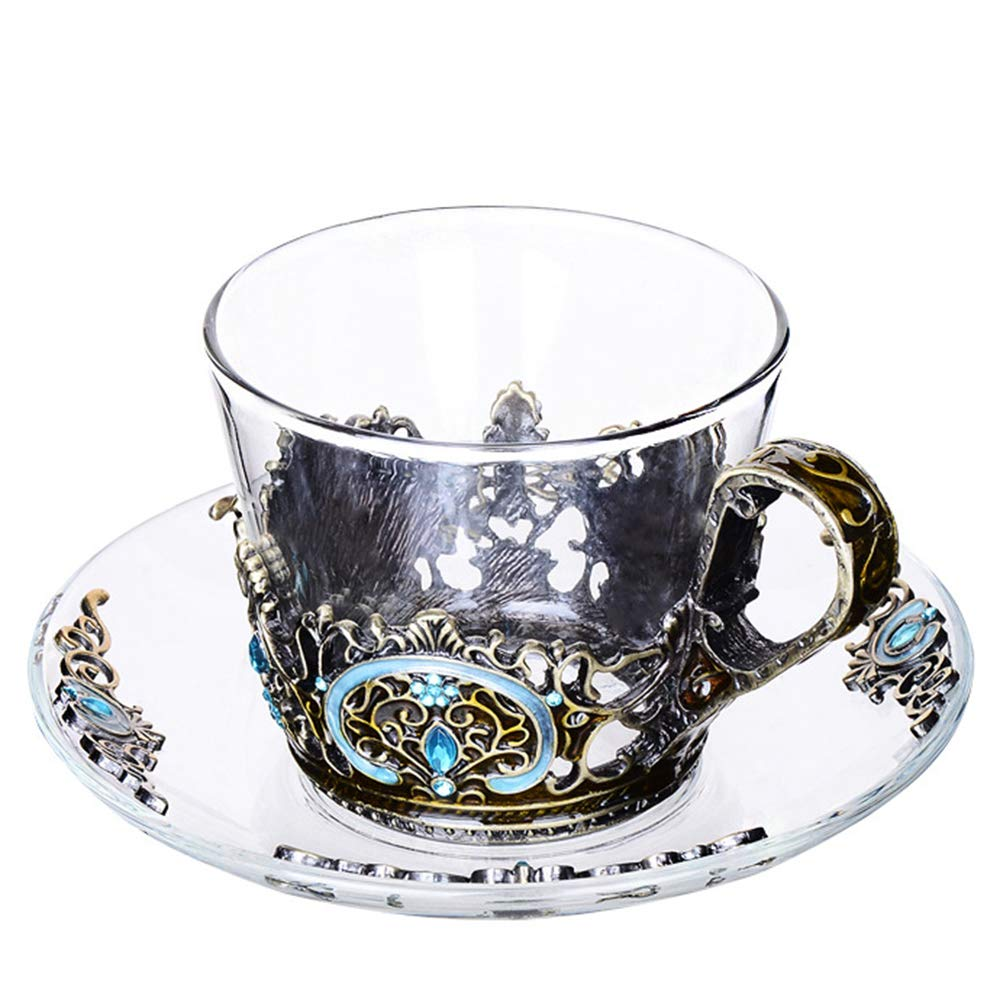 AOAO High-end Solid Color Glass Set, 230ml Exquisite Quality Household Coffee Cup, Unisex Suitable