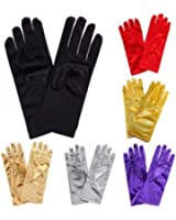 Silky Satin Gloves Wrist Length Adult Size For Ladies