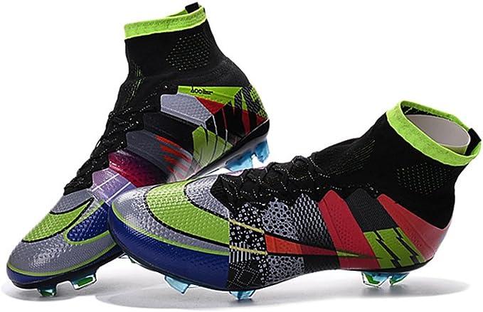 Botines de fútbol Mercurial Superfly Rainbow para hombre, de ZhromgYay Shoes., color, talla 42 EU: Amazon.es: Deportes y aire libre