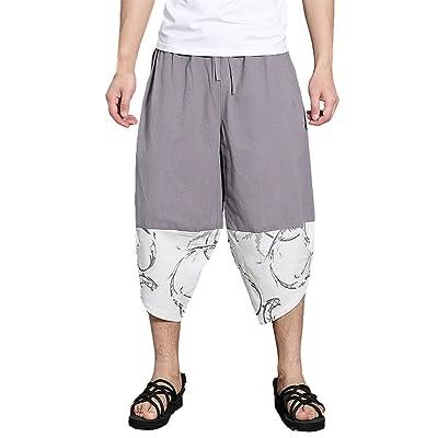 Zhuhaitf 大きいサイズ カジュアル ビーチ Thai Pants メンズ 通気性の ルーズ Harem Pants リネン ズボン for 女性の ティーン 夏