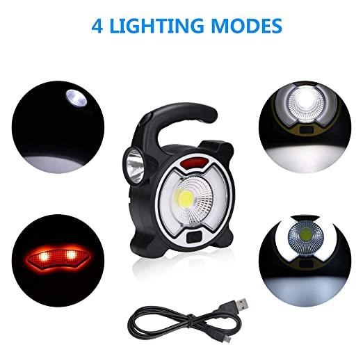 Uso de Emergencia l/ámpara de inspecci/ón COB LED Linterna para el hogar Gaocunh Luz LED de Trabajo Taller Linterna LED Recargable