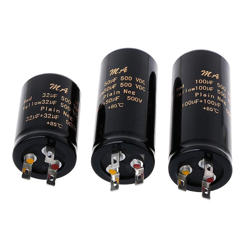 JENOR 100+100uf,50+50uf,32+32uf,500V Audio Electrolytic Double Amplifier Capacitors 100UF